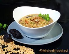Meine Kochlust: Linsensuppe mit Reis und Backpflaumen - Lentil soup with rice and dried plums