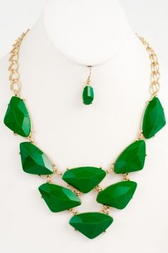 Hesed Boutique - Green with Envy Set, $18.95 (http://www.hesedboutique.com/green-with-envy-set/)
