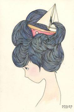 'wavy' hair