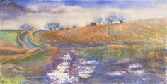 Track by Ploughed Field watercolour in my article 'Meet the Artists & Expand Your Horizons' about Visiting Open Studios
