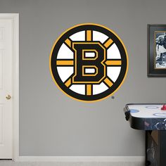 Boston Bruins Logo REAL.BIG. Decals – Peel & Stick Wall Graphic | Boston Bruins Wall Decal | Sports Home Decor | Hockey Bedroom/Man Cave/Nursery