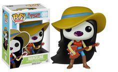 """Product Info Marceline the Vampire Queen is ready for some fun in the sun! This Adventure Time Marceline with Guitar Pop! Vinyl Figure features the red-eater wearing her big sun hat, holding her """"Axe. Funko Pop Dolls, Funko Pop Figures, Pop Vinyl Figures, Adventure Time Personajes, Disney Pixar, Toy Bonnie, Pop Action Figures, Funko Pop Anime, Pop Figurine"""