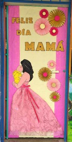 Decoraci n puerta mayo d a de las madres arreglo para for Puertas decoradas para el 10 de mayo