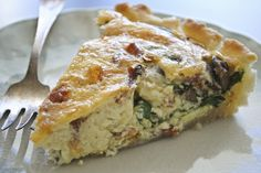 bacon spinich mushroom quiche @ joycotton