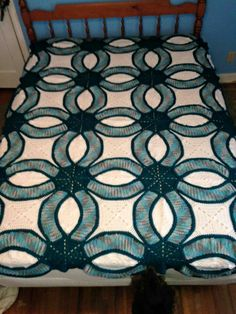 Double Ring Wedding Quilt in Crochet wow crochet Pinterest