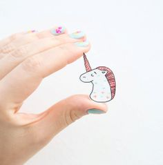 Magical Unicorn Brooch by andsmile on Etsy, £7.00