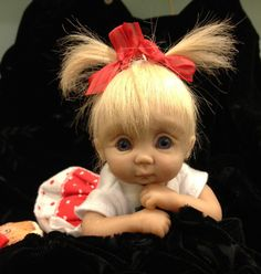 Polymer clay baby doll | 75 OOAK hand sculpted polymer clay baby by VS by VeraSusiesDollies