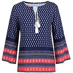 8cca54e37c0 Wingsenti Women's Ethnic Blouse Loose Casual Long Sleeve T Shirts Bohemian  Tops for Women Bohemian Tops