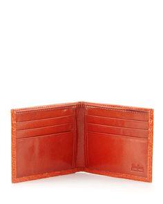 Alligator Bi-Fold Wallet, Orange