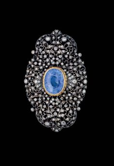AN OTTOMAN DIAMOND AND SAPPHIRE INSET BROOCH, If you feel useful my site, please visite www.shopprice.us