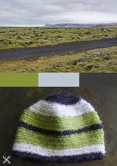 naalbinding hat inspired by icelandic landscape