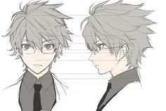 boy professor face anime