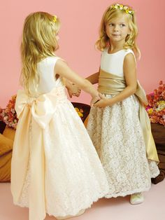 2013 Cute Angel Belt Bowknot Lace Sleeveless Flower Girl Dress [FGD-1044]