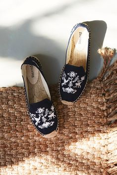Santorini Embroidered Espadrille