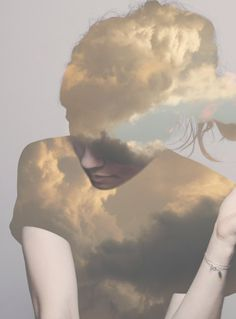 clouds girl editing layering portrait