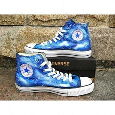 blue galaxy Custom Converse shoes canvas shoes by Kingmaxpaints 7624954bba