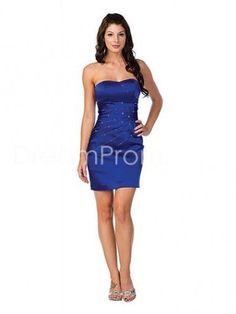 Short/mini Sheath/Column Sweetheart Taffeta Royal Blue Evening Dresses SN100815