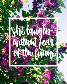 A faith that any woman needs! Especially me!