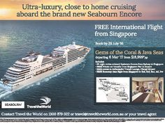 #seabournencore with free #flight from #singapore