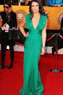 Lea Michelle, Sag Awards  emerald