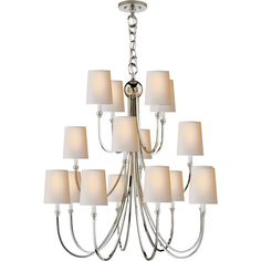 Reed Extra Large Chandelier (20990 MAD) ❤ liked on Polyvore featuring home, lighting, ceiling lights and antique nickel chandelier