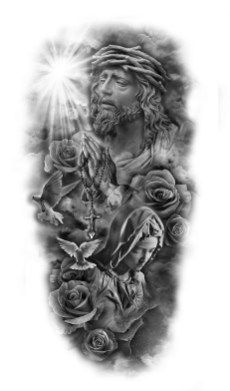 religious theme, black and white sketch, forearm sleeve tattoo sleeve tattoos ▷ 1001 + ideas for beautiful sleeve tattoos for men and women Forearm Sleeve Tattoos, Girls With Sleeve Tattoos, Best Sleeve Tattoos, Tattoo Sleeve Designs, Tattoo Designs Men, Body Art Tattoos, Tattoo Arm, Angel Tattoo Designs, Upper Arm Tattoos For Guys