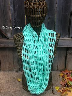 By Jenni Designs: Free Crochet Pattern - Chains and Trebles Infinity Scarf.