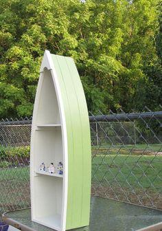 Canoe Shelf Hanging Boat Nautical Decor or Curio by catiques, $19.75