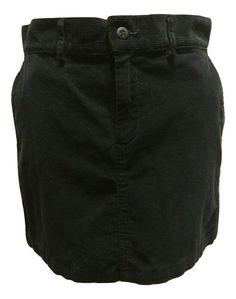 Ralph Lauren Sport Polo Navy Blue Solid Corduroy Mini Skirt Size 8 #PoloRalphLauren #Mini