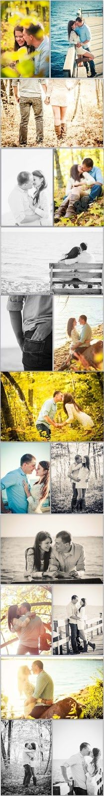 love these engagement pictures! if I ever get engaged in the fall, this what I want