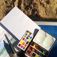 Cattolica Delfini beach village Italy #art #watercolor #painting #summer #beach #sand #Italy #sea #cattolica #arte #acquerello #spiaggia #estate