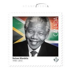 Post Stamp. Black History Month - Nelson Mandela.  Canada Post