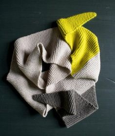 Color Tipped Scarf in New Colors + New Yarns | The Purl Bee