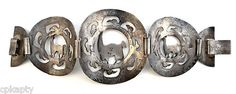 Huge Vintage 1930s 40s Handmade Signed Peru Peruvian Sterling Silver Bracelet | eBay