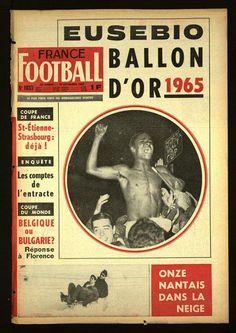 France Football Covers: Eusébio Ballon d'Or 1965