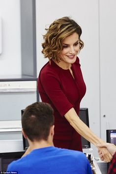 Queen Letizia attended the opening of vocational training school year 2015/16 at the 'Javier Garcia Tellez' Secondary School on October 1, 2015 in Caceres, Spain.