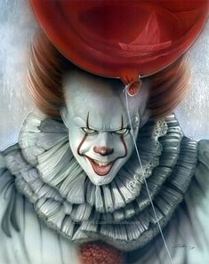 Want to discover art related to pennywise? Check out inspiring examples of pennywise artwork on DeviantArt, and get inspired by our community of talented artists. Clown Horror, Creepy Clown, Scary Movies, Horror Movies, Clown Images, Pennywise The Dancing Clown, Metal Magazine, Evil Clowns, Air Brush Painting
