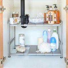 Under Kitchen Sink Organization, Under Sink Storage, Bathroom Organisation, Bath Storage, Office Organization, Small Bathroom Sinks, Master Bathroom, Bathroom Ideas, Bathrooms
