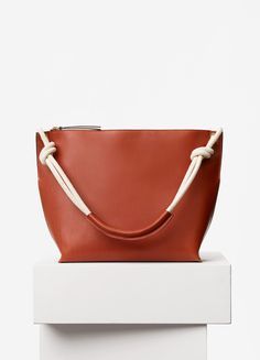Medium Sailor Bag with Cord in Natural Calfskin - Céline