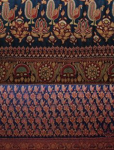 Antique Indian Textile. Extremely Fine Embroidery Mochi Work from Gujarat Kuch 1800-1900 A.D