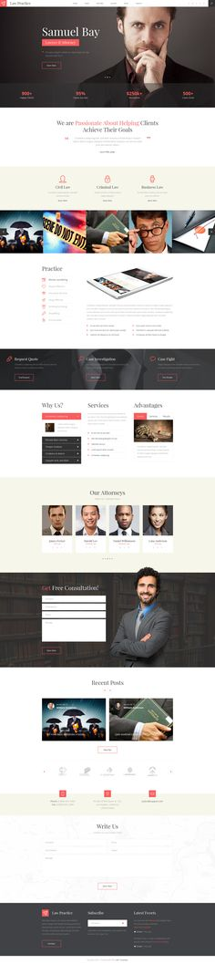 Best Web Template Lawyer Images On Pinterest Website Designs - Lawyer website template