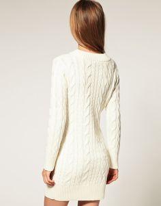 ASOS | ASOS Cable Knit Sweater Dress at ASOS
