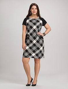 7b918a038809e Plus Size Plaid Zip Pocket Dress