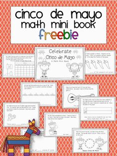 Cinco de Mayo math mini book freebie School Is a Happy Place: Five for Friday with Two Freebies to Snag Bilingual Classroom, Math Classroom, Classroom Activities, Classroom Ideas, Spanish Classroom, Spanish Activities, Holiday Activities, Mini Books, May Activity