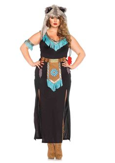 New Leg Avenue 85385X PLUS SIZE Wolf Warrior Female Adult Costume  #LegAvenue
