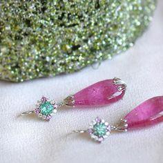 A Pink Tourmaline dream by Ricardo Basta Fine Jewelry 💕💕 Pink Tourmaline statement earrings, Pink Tourmaline earrings #ricardobasta #aotd #earrings