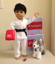 """The Karate Kid""   Isn't he cute?! American Girl BOY Doll of Today Tyler w/ by AmericanGirlDollFun"