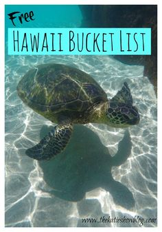Make the most of your time in Hawaii with this FREE Hawaii Bucket List full of adventures and things to see and do!