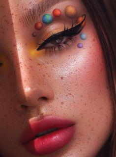 Indie Makeup, Edgy Makeup, Makeup Eye Looks, Eye Makeup Art, Crazy Makeup, Pretty Makeup, Skin Makeup, Makeup Inspo, Makeup Inspiration
