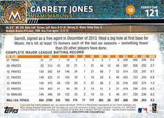 2015 Topps Mini - Gold #121 Garrett Jones Back